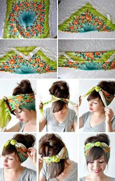 wear a scarf in your hair. Going to need this as my hair grows out.