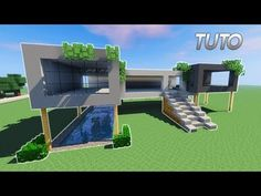 MAISON ULTRA MODERNE FACILE À FAIRE SUR MINECRAFT ! TUTORIEL ...