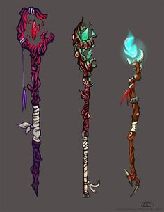 Bilderesultat for staff Weapons Fantasy Character Design, Character Design Inspiration, Character Art, Anime Weapons, Fantasy Weapons, Staff Magic, Desenhos Cartoon Network, Weapon Concept Art, Magic Art