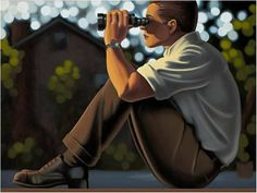 Kenton Nelson Paintings for Sale | This artwork, Looking by Kenton Nelson , is currently for sale at ...