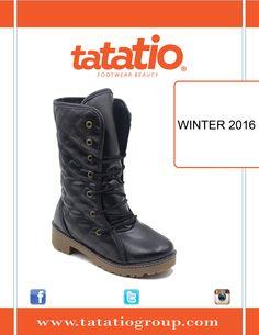 #TATA_TIO  #Shoes  #Black  WINTER 2016 ❄