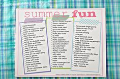 summer fun printables