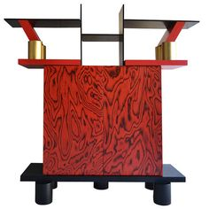 Freemont cabinet 1985 by Ettore Sottsass Memphis Group Cool Furniture, Modern Furniture, Furniture Design, Furniture Storage, Antique Cabinets, Modern Cabinets, Memphis Milano, Shop Cabinets, Memphis Design
