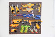 Organizing nerf guns for garage