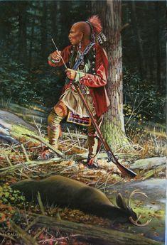 Native American Paintings, Native American Pictures, Native American Artists, Native American History, Indian Pictures, Woodland Indians, Woodland Art, Native American Warrior, American Indian Art