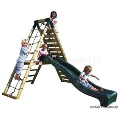 Climb'n'Slide Wooden Climbing Frame Play Centre