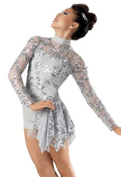 We wore this costume for a dance called shooting star and it was acro. We had a big star to do tricks on and my friend Carrisa fell off the top of the star. It was really scary and she ran off stage into the dressing room.