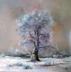 The winter tree by Bernard Louedin