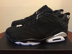 "Nike Air Jordan 6 Retro Low ""Metallic Silver"" 304401 003 mens size 12 shoes #Nike #BasketballShoes"