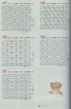 TRICO y CROCHET-madona-mía: Mantas a crochet en una sola pieza ( patrón de puntos para usar