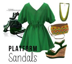 """Green"" by maryana-petrova ❤ liked on Polyvore featuring NOVICA and Forever 21"