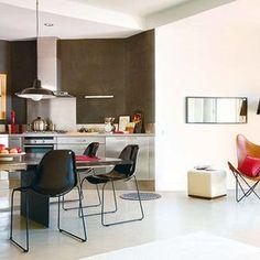 cocina integrada en el comedor