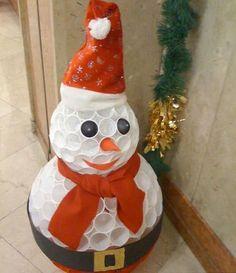 Handmade Christmas snowman
