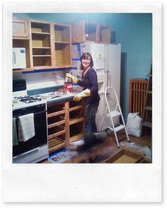 001 & Tutorial for painting builderu0027s grade kitchen cabinets | NEW KITCHEN ...