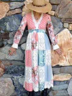Cotton and Lace Boho Maxi by LOVETHEPARLOUR on Etsy, $60.00
