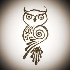 Image result for henna owl designs