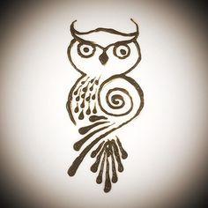Image result for henna owl designs