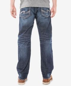 Silver Jeans Co. Men's Gordie Relaxed Fit Jeans - Blue 36x34