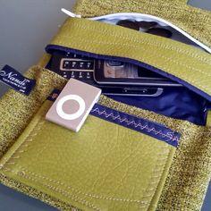 Handgemachte Tasche Nandi upcycled Art & Craft Detail - erhältlich bei Dawanda: Nandi_Shop