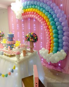 Macarius Royces Little Lamb-Motto-Party – Ein charmanter Tag - Cupcakee Ideen Unicorn Themed Birthday Party, My Little Pony Birthday Party, Rainbow Birthday Party, Care Bear Birthday, 1st Birthday Parties, Pony Party, Birthday Themes For Girls, Twin Birthday Cakes, Rainbow Unicorn Party