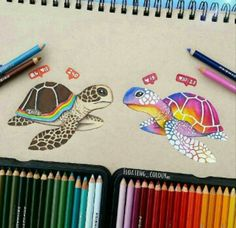 Cute turtle art by Floating_colour Don't forget to use on your … – mermaid.art Cute turtle art by Floating_colour Don't forget to use on your … Cute turtle art by Floating_colour Don't forget to use on your work 🙂 Cool Art Drawings, Amazing Drawings, Art Drawings Sketches, Disney Drawings, Animal Drawings, Sketch Art, Colorful Drawings, Pencil Drawings, Draw On Picture App
