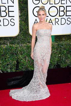 Elsa Pataky Golden Globes 2017 Zuhair Murad Gown. Wedding dress and bridesmaid dress inspiration.