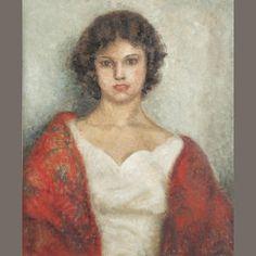 dod procter | Dod Procter R.A. (British, 1892-1972) Portrait of Miss Mary Anne Jones ...