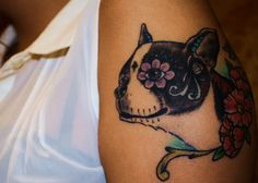 My newest tattoo! Sugar Skull Radar (my boston terrier) Boston Terrier Tattoo, Boston Tattoo, Boston Terrier Love, Boston Terriers, Car Tattoos, Love Tattoos, Tatoo Art, I Tattoo, Boston Art