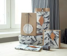 Lintuja ja kuparia | Kotilo, My classmates own blog and the most amazing packages for christmas! Wonderful wrappings.