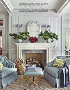 this grey, white, and light blue living room is like being on a cloud