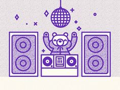 DJ Bear in the house by Richard Perez