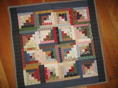Miniature Log Cabin Quilt - CottageRoseQuiltShop on etsy