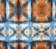 Artist: Jane Dunnewold, Wax + Crackle, Rust/Blue