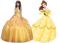 Uma das princesas da Disney favoritas, a Bela é a prova de que nem só de rosa e azul se faz um vestido de festa. O amarelo e suas tonalidades caem bem para a maioria das meninas. Aposte em uma variação que contraste com o seu tom de pele e que não te deixe apagada. A saia super armada da princesa pode ser substituída por uma versão mais sequinha, de seda, musselina, chiffon ou cetim.