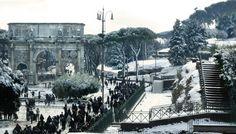 Rome under the snow. Roma sotto la neve