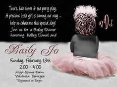 tutu baby shower invitations templates
