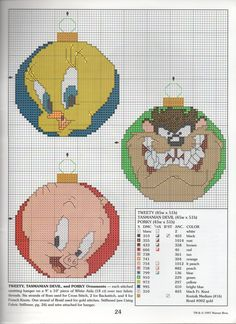 LOONEY TUNES CHRISTMAS ORNAMENTS