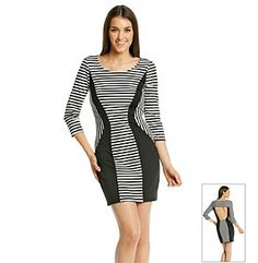 Trixxi® Juniors' Striped Bodycon Dress at www.bonton.com