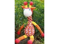 Amigurumi,gehäkelte Giraffe.Häkeln.Handarbeit.Häkeltier