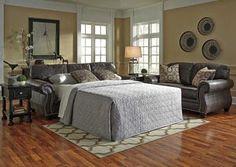 Breville Charcoal Queen Sofa Sleeper, /category/living-room/breville-charcoal-queen-sofa-sleeper.html
