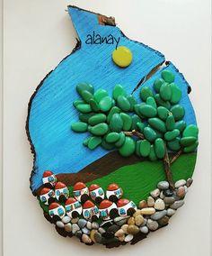 #taş #taşboyama #stone #stonepainting #stoneart #resim #hobi #terapi #rockspaint #taşboyamasanatı #manzara #ağaç #ev #taşkasaba #odundilimi #günaydın #goodmorning Günaydın. Hayaller ve hayatlar...ev boyamaya devam ediyorum.ütopyamı renkli mutlu evlerle doldurmak iyi geliyor.her ev mutlu sahibini hasretle bekliyor.