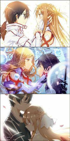 Sword Art Online Poster, Sword Art Online Wallpaper, Sword Art Online Kirito, Schwertkunst Online, Chat Wallpaper Whatsapp, Sao Kirito And Asuna, Fish Drawings, Otaku, Cute Anime Couples
