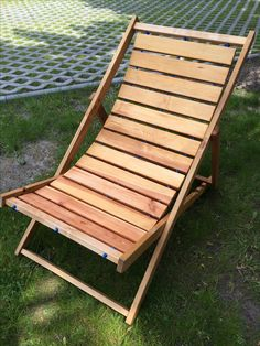 DIY scrapwood sunbed / deck chair