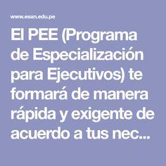 El PEE (Programa de Especialización para Ejecutivos) te formará de manera rápida y exigente de acuerdo a tus necesidades. ¡Conoce más, aquí! → Information Privacy, Brochures, Finance, Xmas, Health