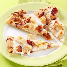 Garlic Chicken & Bacon Pizza Recipe -Cooking creme is the secret to adding a lot of flavor without a lot of extra ingredients in this pizza. It's our go-to for game night. We love it; you're going to love it, too! —Josee Lanzi, New Port Richey, Florida