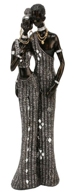 Black & Silver African Masai Couple Figurine Gift Ornament 41cm Statue Maasai in Collectables, Decorative Ornaments/ Plates, Figurines/ Figures/ Groups | eBay