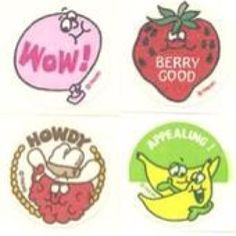 The 1st Scratch N Sniff Stickers... Just brought back a flood of memories!