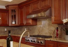 Backsplash for Kitchen Countertops   ... tile can be a cost effective way to transform a bland back splash