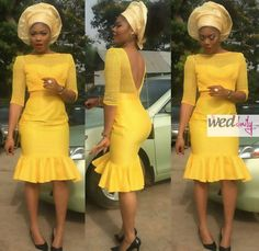 Be Ready To Be Wowed With Gorgeous and Classy Aso-Ebi Styles You've Never Seen Before - Wedding Digest Naija African Dresses For Women, African Wear, African Attire, African Fashion Dresses, African Women, African Clothes, Ghanaian Fashion, African Outfits, African Print Fashion