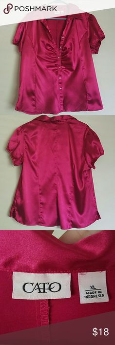 Shiny blouse by Cato Such a gorgeous shirt. Great condition. No tears, stains or snags. Message me with any questions Cato Tops Button Down Shirts